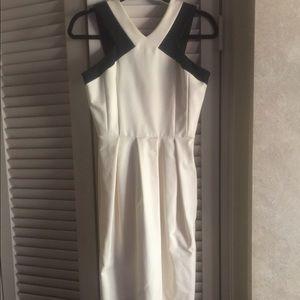 Abaete Elizabeth dress white black dress NWT